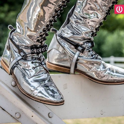 "Imperial Riding Leder Reitstiefel Special - ""Metallic Silver"""