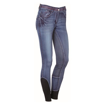"Harrys Horse Limited Edition -- Jeans Reithose ""Just Ride Pink"""